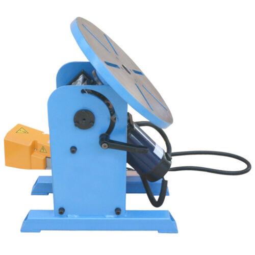 0-135° Welding Positioner Welder Turn Table Tilt Foot Pedal 220-480lbs Load 110v