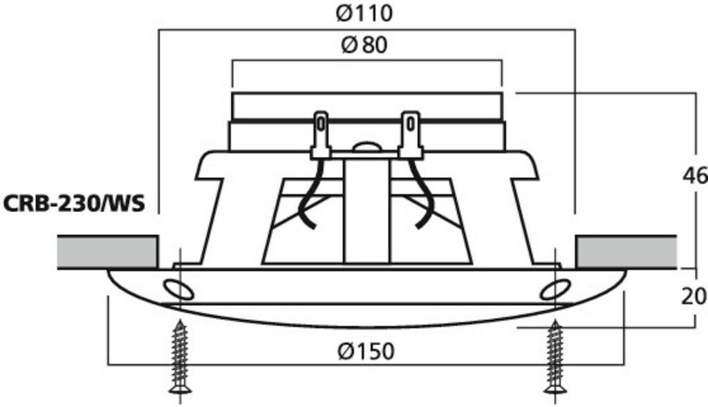 Monacor CRB-230/WS 13cm 5