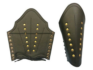 ROMAN LEATHER ARM GUARD BRACERS Metal Studs,MEDIEVAL DRESS UP COSTUME ARMOR