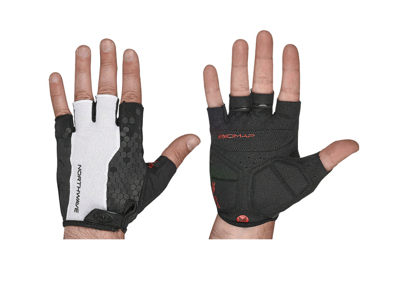 Wimper Handschuhe Sommer Northwave Evolution white black Sommer