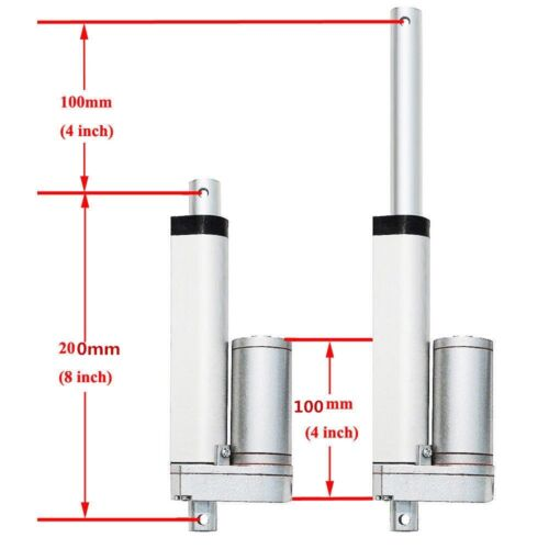 Heavy Duty 100N-1500N Linear Actuator Motor 22lbs-330lbs 12V Stroke 100mm//300mm