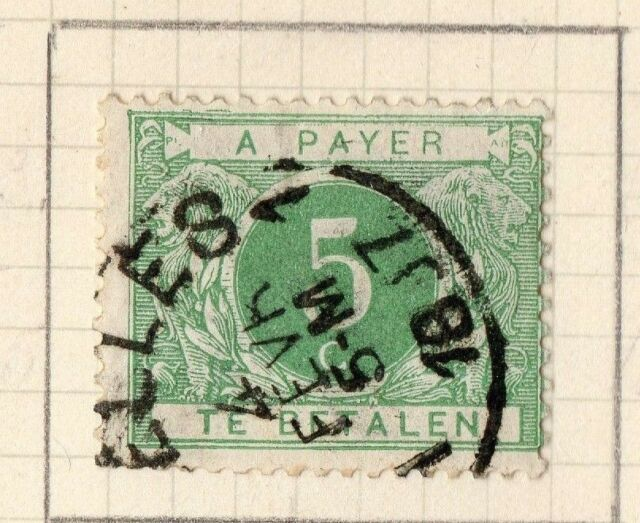 Belgium 1895-1912 early Postage Due Issue Fine Used 5c. 251292