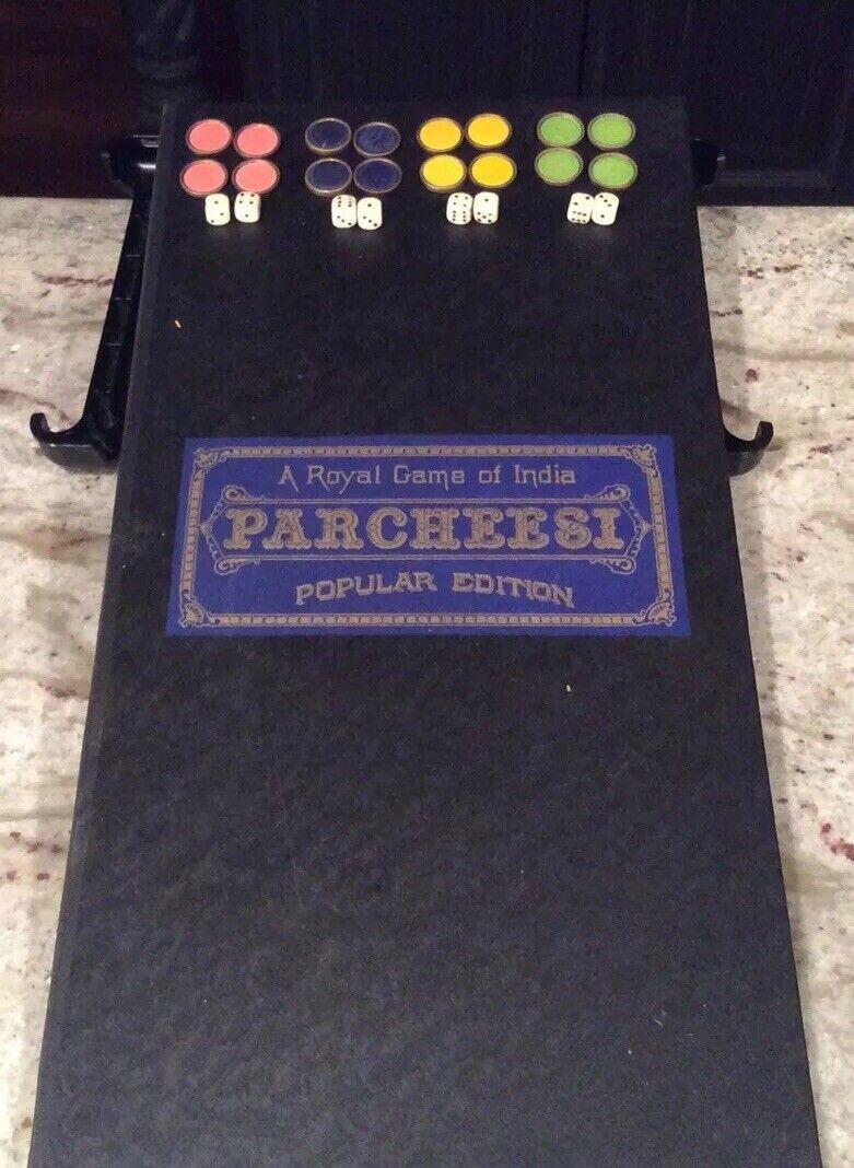 Vintage 1918 revisado 1937 al Parcheesi un juego real de la India
