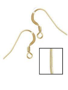 50 ea 14k Gold Filled Earring Hook Wires
