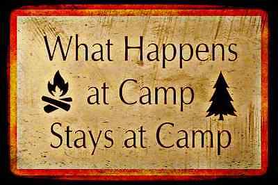 CAMP RUN A MUK SIGN METAL 8X12 LODGE LOG CABIN FISHING CABIN RUSTIC SUMMER CAMP