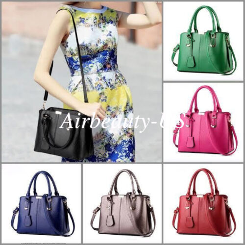 NEW Women Leather Handbag Shoulder Cross Body Bag Tote Messenger Satchel Purse