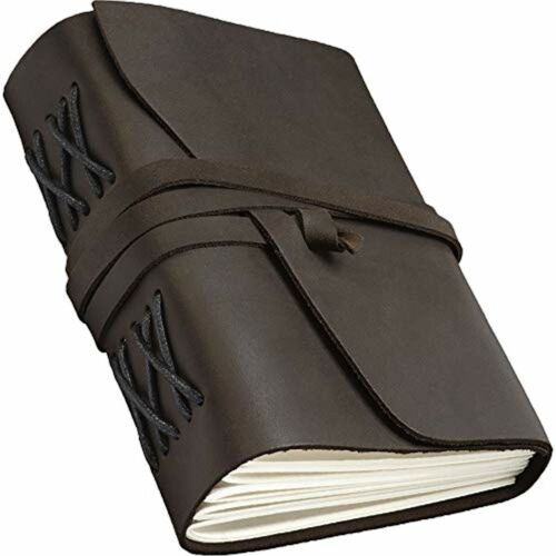 Handmade Leather Vintage Writing Notebook Personalized Sketchbook Refillable