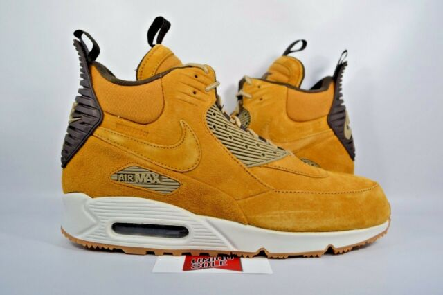 cheap for discount 1cc64 a3a17 Nike Air Max 90 Sneakerboot WHEAT FLAX HAYSTACK 684714-700 sz 10 WINTER BOOT