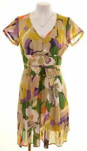 Benetton-Damen-Sommerkleid-10-kleine-Multi-Baumwolle-ix05