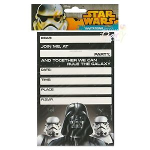 Image Is Loading STAR WARS CLASSIC BIRTHDAY PARTY INVITATIONS PACK OF