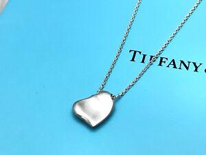 4a5749276 Tiffany & Co. Elsa Peretti FULL HEART necklace sterling silver #KE ...