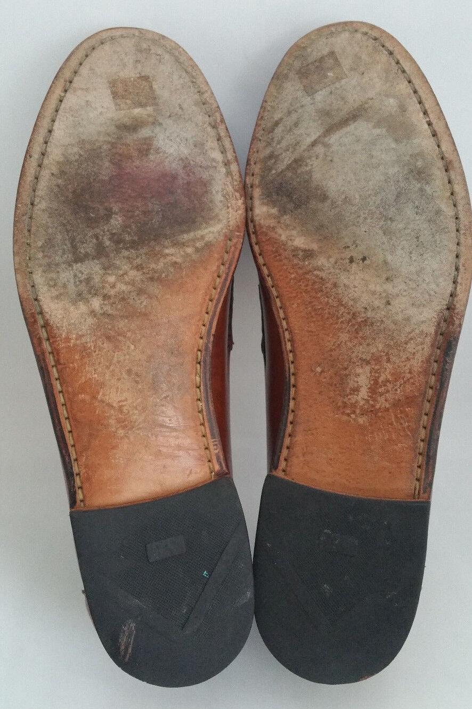 Allen Edmonds 47716 Maxfield Borla Moc Toe Mocasín Zapatos de de piel de de becerro marrón hombre 11 D c60490