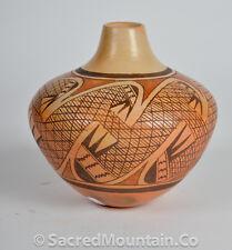 Hopi Pottery- Large Bowl-By Hopi artist Vernida Nampayo Polacca  #VP1201