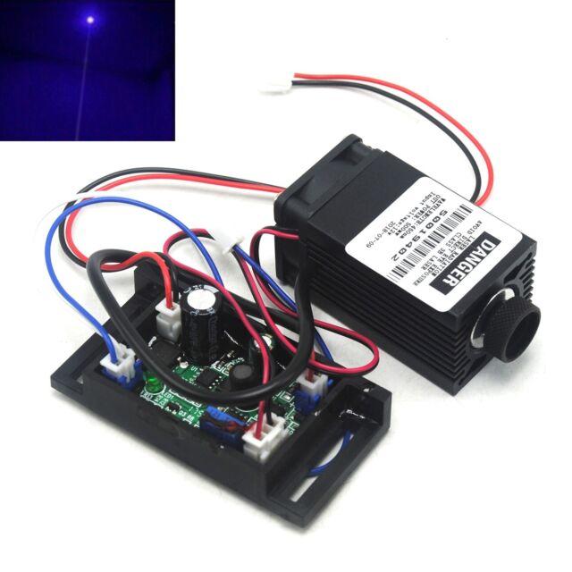 Focusable 450nm 100mW Blue Dot 12V Laser Diode Module TTL 0-20KHz Long Time Work