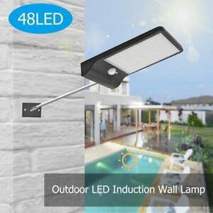 48LED-Luce-Solare-Lampada-con-Sensore-di-Movimento-Esterno-Proiettori-Faretti