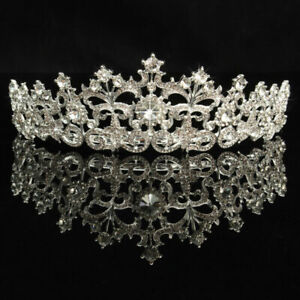 Crystal-Rhinestone-Hair-Headband-Crown-Comb-Tiara-Wedding-Bridal-Tiara