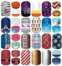 Jamberry Nail Wraps Lot 10 Holiday plus 40 Samples will do 80-120 Accent Nails