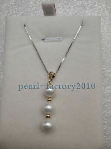 Charm Gift 11-12mm natural white south sea pearl necklace 16 inch oversized AAA