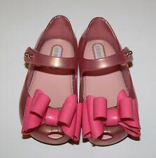 New Mini Melissa Mini Ballet Flat Mary Jane Toddler Girl size 5 light pink matte