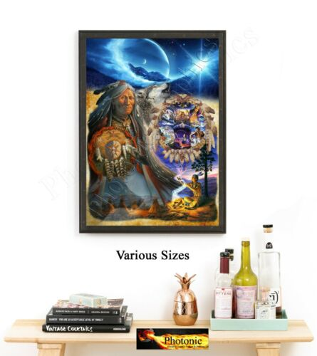 Native American Indian Wisdom Pictures Photo Print ONLY Wall Art Size A4 Prints