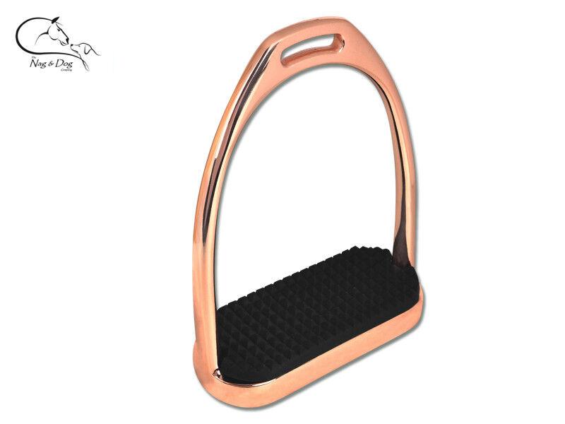 Waldhausen pink gold Fillis  STIRRUPS Irons RIDING EQUESTRIAN  FREE P&P