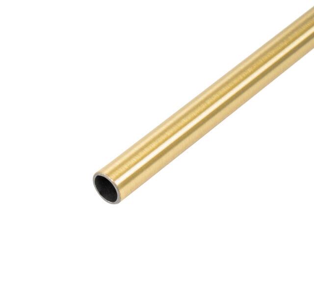 Wesco Relingsystem Rohr 16x1000 mm Messing glänzend Gardinenstange Küchenreling