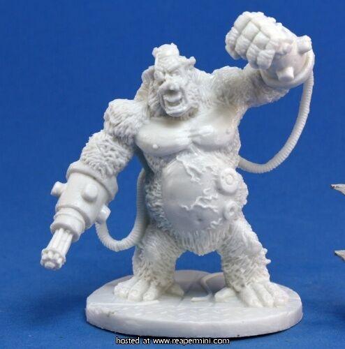 BONES REAPER figurine miniature chronoscope cyborg ape gorilla 80001 1x APE-X