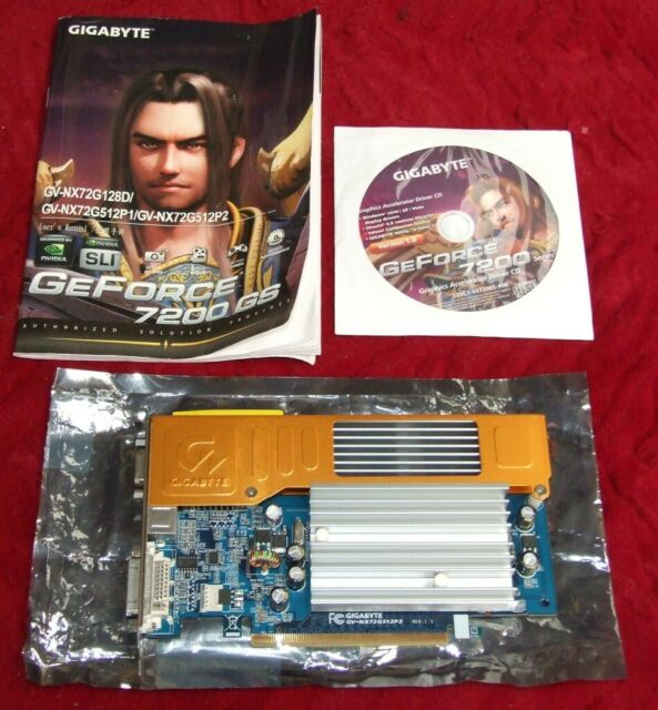 Gigabyte nVidia GeForce 7200 GS GV-NX72G512P2 SVGA video card GPU
