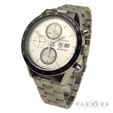 TAG HEUER CARRERA CHRONO STAINLESS STEEL AUTOMATIC WRISTWATCH CV2011.BA0786