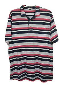 Peter-Millar-Mens-L-Multicolor-Polo-Shirt-Short-Sleeve-Striped
