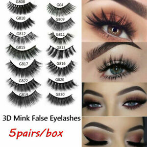 5Pairs-3D-Real-Mink-Hair-False-Eyelashes-Extension-Wispy-Fluffy-Think-Lashes-Lot