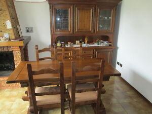 sala soggiorno (credenza con vetrina) ditta del tongo (noce ... - Soggiorno Noce Massello 2