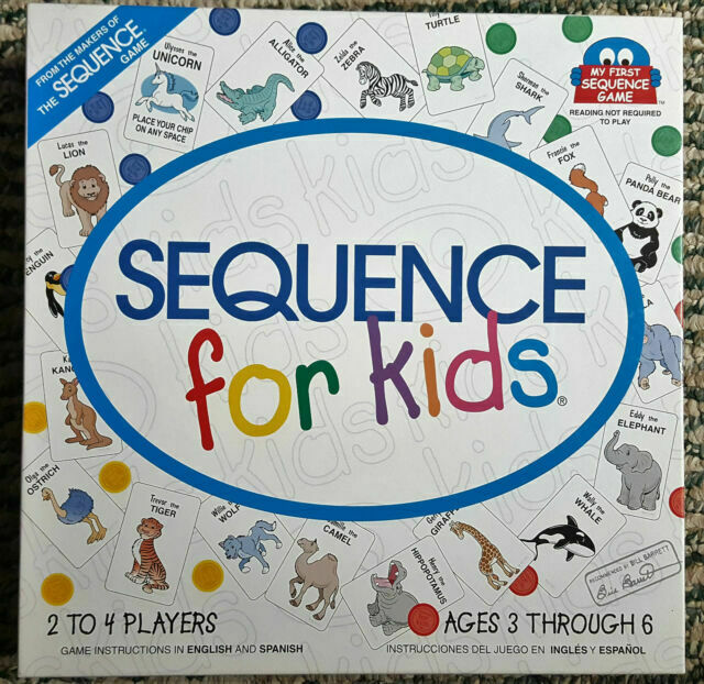 Jax My First Sequence For Kids Animals Board Game Colored Chips 8004 For Sale Online Ebay