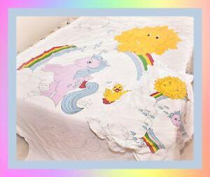My-Little-Pony-MLP-G1-Vtg-SPRINKLES-Single-Bed-Sheet-Duvet-Cover-Pillow-Case