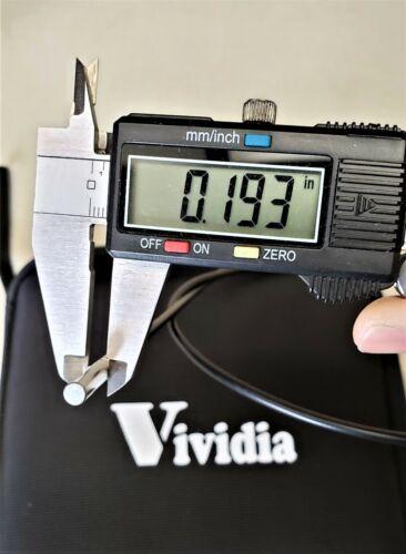 "Vividia GB-5100 Gun Barrel Borescope 5mm Diameter 40/"" Long 22 Caliber and Larger"