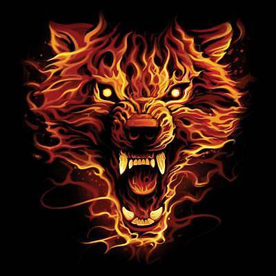 Flaming Wolf T-Shirt Wolves Tee