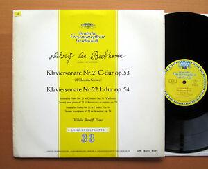 Kempff-Beethoven-Piano-Sonatas-de-18089-LPM-Waldstein-21-amp-22-Excelente-Tulipan-Mono