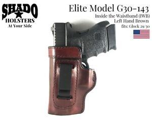 SHADO Leather Holster USA Elite Model G30-143 Left Hand Brown Glock 29 30 Brand