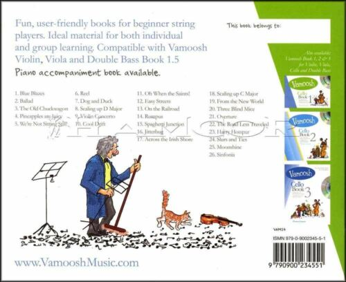 Vamoosh Cello 1.5 Music Book//CD Method Learn How To Play Songs SAME DAY DISPATCH