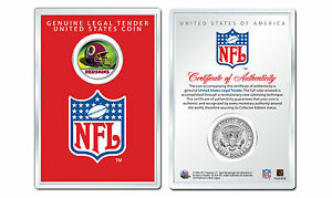 WASHINGTON-REDSKINS-NFL-Helmet-JFK-Half-Dollar-Coin-w-4x6-Display-LICENSED