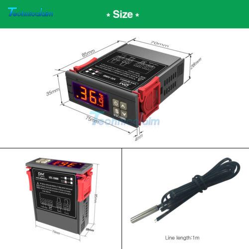 220V STC-1000 All-Purpose Temperature Controller Thermostat Aquarium w//Sensor