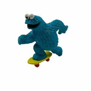 Applause Sesame Street Cookie Monster Skateboarding Figure Cake Topper 80s VTG