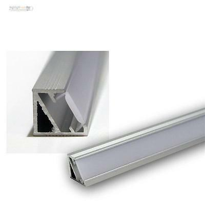 "1m LED Aluminium-Eckprofil ""Starline Mikro"" ALU Leiste, Abdeckung OPAL, 50050201"