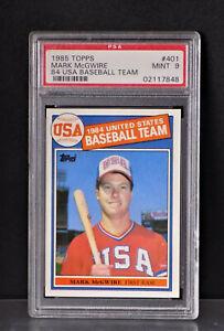 1985-TOPPS-401MARK-McGWIRE-PSA-9-MINT-84-U-S-A-BASEBALL-TEAM-R-C-Future-HOF