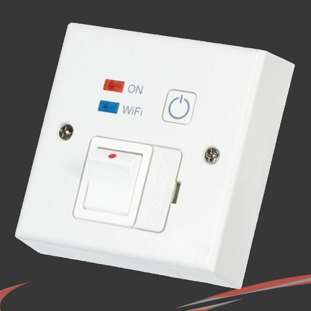 Weiß  Wi-Fi  Controlled, Switched Fused Spur (Phone App Control)