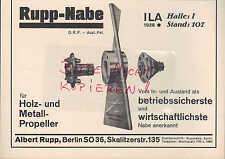 BERLIN, Werbung 1928, Albert Rupp Nabe Holz-Metall-Propeller ILA