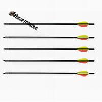 5pcs 17 Heavy Duty Crossbow Bolts Alloy Aluminium Archery Xbow Arrows For 100lb