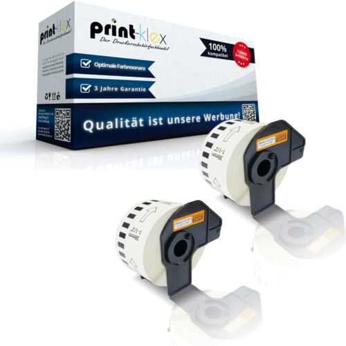 2x kompatible Label Etiketten Rollen für Brother P-TouchQL650TD DK22225 Quantum