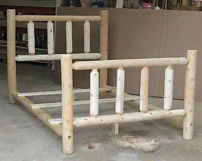 Michigan Rustic Natural Cedar Log Bed, Log Furniture Michigan