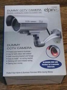 Diligent Nouveau Elipne Caméra De Surveillance Factice Avec Clignotant Del Rouge-afficher Le Titre D'origine